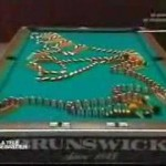 Domino Pool Table Knockdown