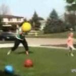 girl vs ball