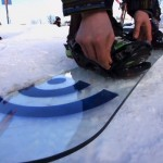 glass snowboard
