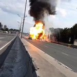 Truck Explodes…. 39 Times