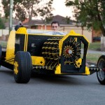 Air Powered Drivable Full Size LEGO Car