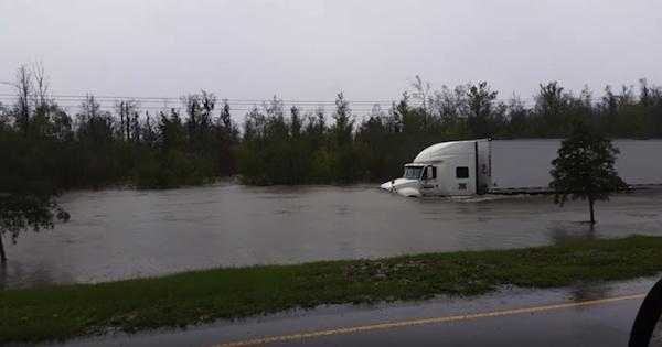 truck vs water